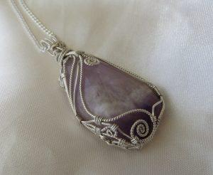chevron amethyst pendant