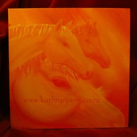 Tangerine Dream Team, spirit horse art
