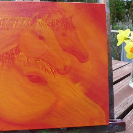 Tangerine Dream Team Oil Painting