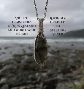ancient gemstones cradled in silver